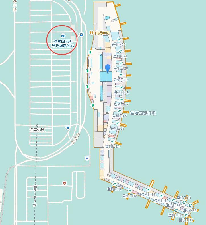 济南机场长途客运站具体位置